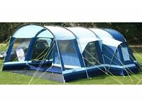 Kampa Filey 6 berth tunnel tent including vestibule and carpet. also incudes a footprint. excellent.