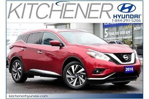 2016 Nissan Murano PLATINUM // AUTO // AWD // LEATHER // NAVI...