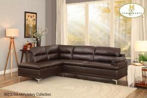 Modern Sectional in Dark brown Leatherette (MA775)