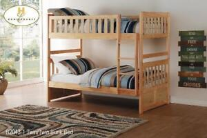 Wooden Bunk Bed with Ladder on Sale (BD-2500)