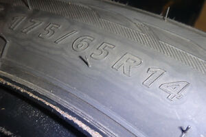 4 Great shape Winter Claw 175/65R14 Studded Tires and Rims