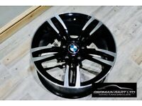 Used, 4 X 18″ 437M M3 M4 STYLE WHEELS GLOSS BLACK MACHINED BMW E90 1 & 2 SERIES for sale  Derby, Derbyshire