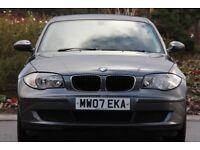 2007 07 BMW 116i PETROL MANUAL 5 DOOR HATCHBACK, **LOW MILEAGE** LONG MOT JUST SERVICED £3550.00