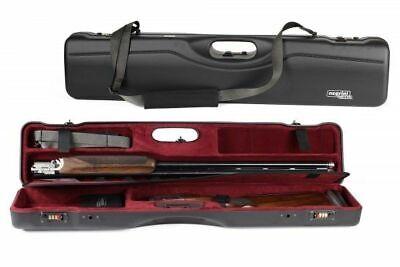 Negrini OU/SxS Ultra-Compact Shotgun Case, Black/Bordeaux, L35.: 16407LR/5642
