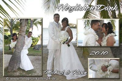 Hochzeit Dankeskarten Danksagungen Trauung Danksagungskarten 10 x Foto + Kuverts (Danke-karte 50)