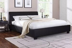 6 x brand new black  color queen size design w bed + used mattres Box Hill North Whitehorse Area Preview