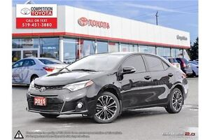 2015 Toyota Corolla S One Owner, No Accidents, Toyota Serviced