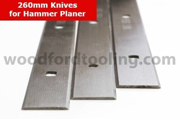 260mm Set of 3 Planer Blades for HAMMER Planer Machines | in Chester,  Cheshire | Gumtree