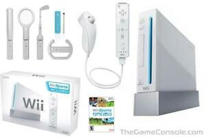 White Wii with 2 games