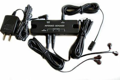 NEW Compact IR Extender Repeater Infrared System Remote IR Repeater IR Emitters