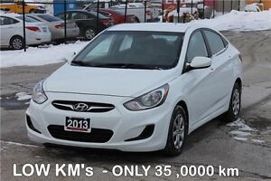 2013 Hyundai Accent GL | ONLY 35K | Heated Seats | CERTIFIED