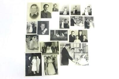 Lot Of 18 Vintage Black and White Photos People Wedding
