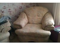 2 single chairs and a 2 seater sofa FREE