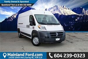 2016 RAM ProMaster 2500 High Roof LOCAL, ONE OWNER