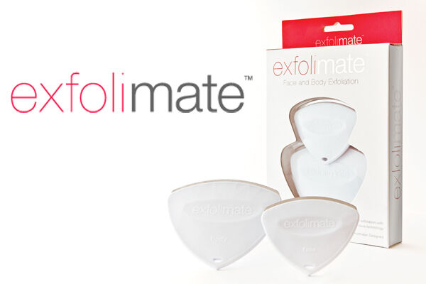 2 x Exfolimate, your face and body exfoliation tool.
