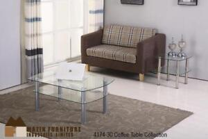 Stainless Steel Glass Coffee Table Set on Sale - Mississauga  Sale (BD-2348)