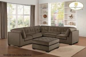 Brown Fabric Sectional with Tufting - Sectionals on Sale (BD-2411)