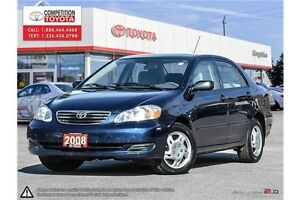2008 Toyota Corolla CE One Owner, No Accidents, Toyota Serviced