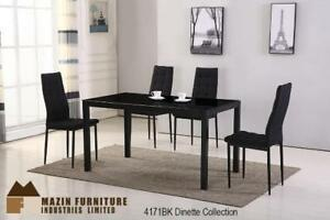 Make it own online-Dinning set with high-backed chairs in Black (MA273)