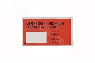 5000 Lieferscheintaschen DIN lang (Lieferschein/Rechnung)