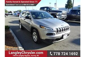 2015 Jeep Cherokee Sport W/BLUETOOTH & POWER GROUP