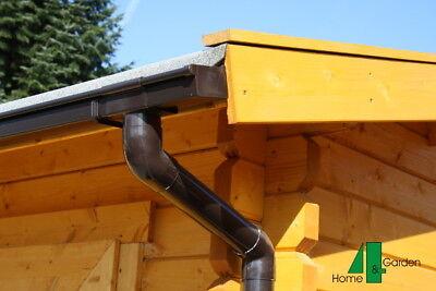 Fallrohrset 111T für Dachrinne zur einseitigen Entwässerung Rohr Rohrbogen