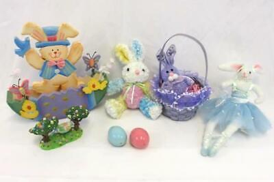 Easter Lot Decor Wooden Egg Table Mini Basket Ganz Figurine Plush Bunny Egg - Wooden Easter Baskets