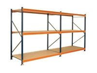 USED DEXION SHELVING INDUSTRIAL WAREHOUSE GARAGE STORAGE RACKING CHIPBOARD SHELVES 3m x 1100mm
