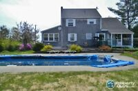 Water view, in ground pool, privacy, easy access to highway