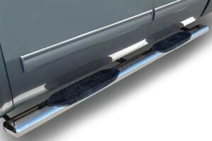 """Side Step Chevy / GMC Crew Cab 5"""" Stainless  Nerf Bar"""