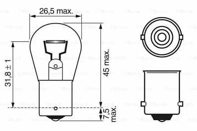 Bosch 1987302280 Vorne Signallampe Auto Birne P21W 12 V 21 W