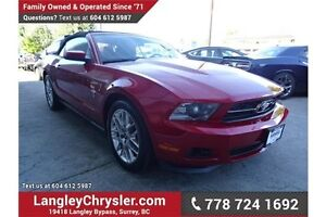 2012 Ford Mustang V6 Premium w/ Heated Seats & Air Coditioning