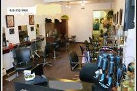 salon de coiffure a vendre ou chaises a louer