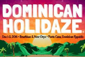 Dominican HOLIDAZE music festival Dec 1-6. Two tickets.