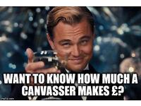 earn £500+ per week in door to door advertising