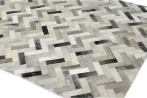Morrison Flatweave Cowhide Ash Area Rug Only 1 Available