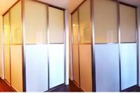 closet sliding doors, sliding doors. room dividers, sliding wall