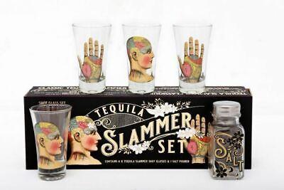 Phrenology Tequila Palmist Psychology Slammer Shot Drinking Gift Set Salt
