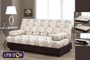 Vente de futon base et matelas 10''.  Pour seulement 279$