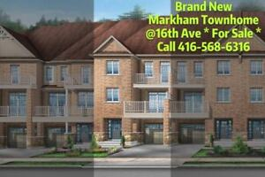*Brand New *  Townhome - 16th Ave/Markham Rd