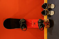 Snoawbard [used/132cm] with boots and bindings included