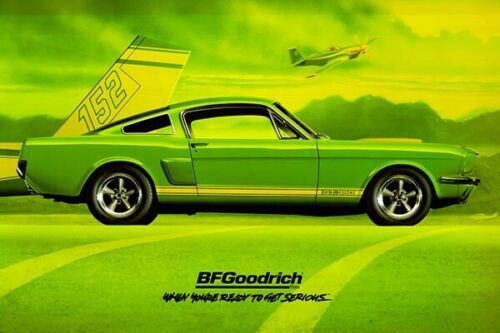 REPRODUCTION BF GOODRICH 1966 Shelby GT350 Green Banner 2