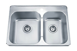 KUIZEN 41-KTD2821 DOWBLE UNDERMOUNT SINK 28 INCHES X 20.5 INCHES