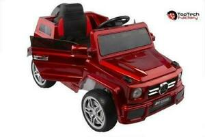 Mercedes G55 Kids Ride On Toy Car | Remote Control | 12V Battery, MP3 Player, & Leather Seat  | Free Shipping & Pick up