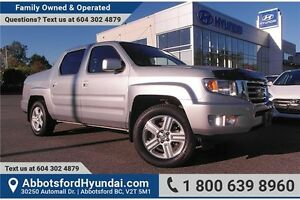 2012 Honda Ridgeline Touring CERTIFIED ACCIDENT FREE & BC OWNED