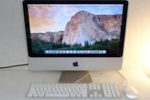 "Apple iMac 4 gb Ram All in One 20"" inch W Screen 250 gb Hard Drive Storage OSX 10.11.5 Yosemite Webcam Wi-Fi $250"