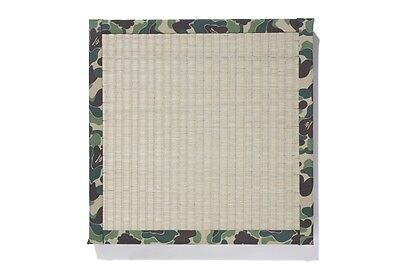 Authentic APE BAPE  ABC CAMO IGUSA TATAMI CUSHION NEW KYOTO BAPE ONLINE LIMITED