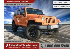 2012 Jeep Wrangler Unlimited Sahara ACCIDENT FREE!