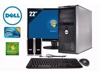 Dell Optiplex 745 WiFi Intel Core2Duo 4ghz Windows 10 2GB Ram DVDRW Full Computer PC with Warranty