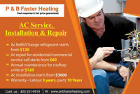 AC Installation Starting From $3000, Repair Starting from $60